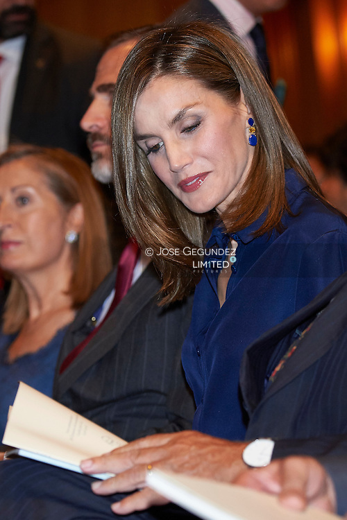 Queen Letizia of Spain Attend Commemoration of the centenary of the birth of Camilo Jose Cela at Instituto Cervantes on September 7, 2016 in Madrid