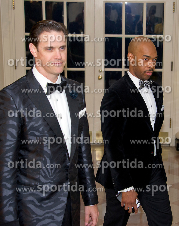 Author Robert Anderson, left, and Eric Harland, right, arrive for the State Dinner in honor of Prime Minister Trudeau and Mrs. Sophie Gr&eacute;goire Trudeau of Canada at the White House in Washington, DC on Thursday, March 10, 2016. EXPA Pictures &copy; 2016, PhotoCredit: EXPA/ Photoshot/ Ron Sachs<br /> <br /> *****ATTENTION - for AUT, SLO, CRO, SRB, BIH, MAZ, SUI only*****