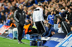 Chelsea Manager Jose Mourinho (POR) gestures - Photo mandatory by-line: Rogan Thomson/JMP - 07966 386802 - 08/04/2014 - SPORT - FOOTBALL - Stamford Bridge, London - Chelsea v Paris Saint-Germain - UEFA Champions League Quarter-Final Second Leg.