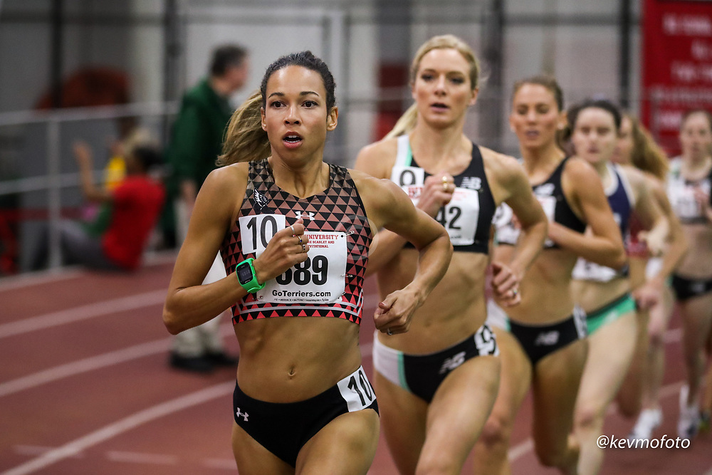 Bruce LeHane Scarlet and White<br /> Indoor Track & Field<br /> womens 1500m, Under Armour, Aisha Praught Leer