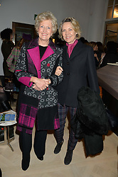 Left to right, LADY CHADLINGTON and CARLA BAMBERGER at a talk by Geordie Greig about his book 'Breakfast With Lucian' held at Grace, 11c West Halkin Street, London on 22nd January 2014.