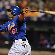 Yoenis Cespedes, New York Mets, batting during the New York Mets Vs New York Yankees MLB regular season baseball game at Citi Field, Queens, New York. USA. 20th September 2015. Photo Tim Clayton