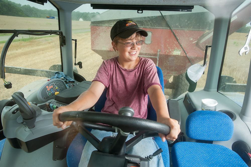 teenager in tractor cab<br /> Centerville MD