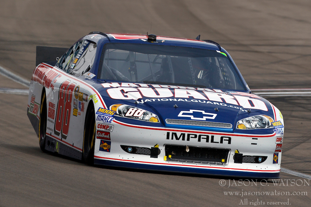 Mar 11, 2012; Las Vegas, NV, USA;  Sprint Cup Series driver Dale Earnhardt Jr. (88) during the Kobalt Tools 400 at Las Vegas Motor Speedway. Mandatory Credit: Jason O. Watson-US PRESSWIRE