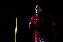 LIVERPOOL, ENGLAND - Monday, February 18, 2019: Liverpool's Virgil van Dijk during a training session at Melwood ahead of the UEFA Champions League Round of 16 1st Leg match between Liverpool FC and FC Bayern München. (Pic by Paul Greenwood/Propaganda)