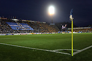 Yamaha Stadium the home of Jubilo Iwata as fans display a huge flag with the clubs logo on