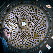 Interior view of the dome of the Church of the Assumption of Our Lady (Also known as the Rotunda of St Marija Assunta).