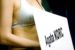 Sign of Agata Korc of Poland during the 50m women Freestyle at the swimming competition Ilirija Challenge 2009, on December 16, 2009, in Tivoli pool, Ljubljana, Slovenia. (Photo by Vid Ponikvar / Sportida)