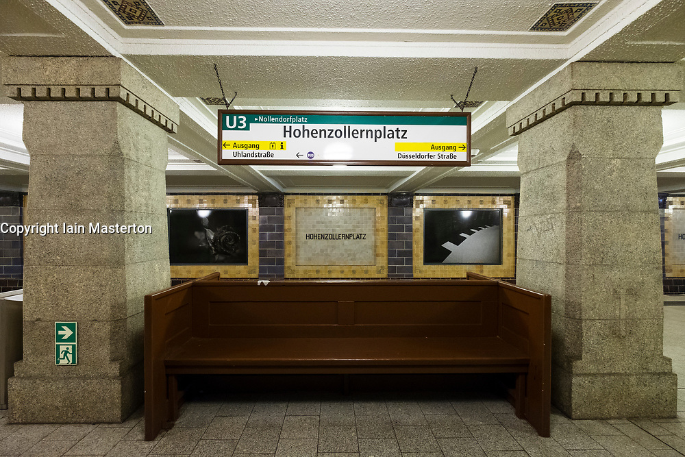 Hohenzollernplatz U-Bahn underground railway station in Berlin, Germany