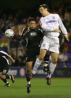 Photo: Paul Thomas.<br /> Tranmere Rovers v Bristol City. Coca Cola League 1. 08/09/2006.<br /> <br /> Bristol's Lee Johnson (L) and Chris Greenacre go for the ball.