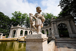 Marchenbrunnen Fairy Tale Fountain in Volkspark Friedrichshain Park Berlin Germany