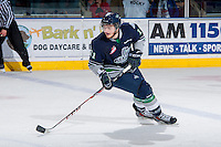 KELOWNA, CANADA - APRIL 3: Branden Troock #11 of the Seattle Thunderbirds skates against the Kelowna Rockets on April 3, 2014 during Game 1 of the second round of WHL Playoffs at Prospera Place in Kelowna, British Columbia, Canada.   (Photo by Marissa Baecker/Getty Images)  *** Local Caption *** Branden Troock;