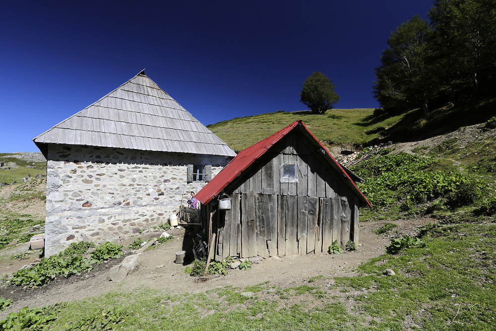 Traditional house at the katun of Krivi Do, Montenegro.