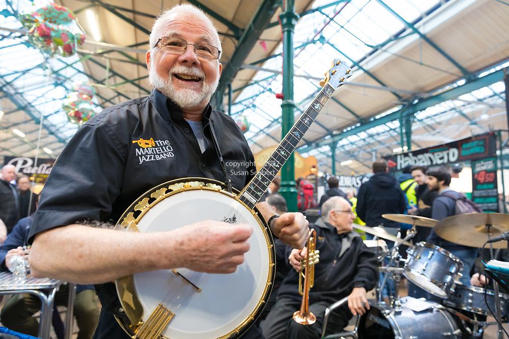 Musicians perform at St. George's Market, Belfast, Northern Ireland