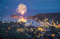 My brother and I hiked up Mount Battie to catch the fireworks over Camden Harbor. It was incredible!