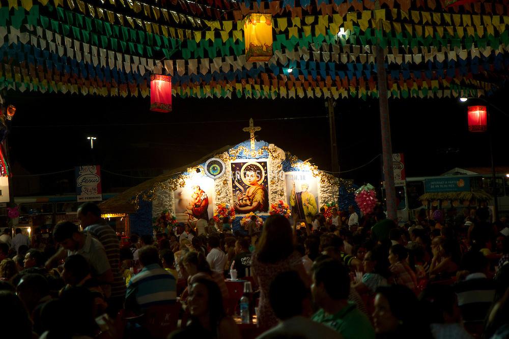 "Sao Luis - MA - Festa junina, celebracao tradicional brasileira que ocorre no mes de junho, festejando tres importantes santos catolicos: Sao Joao (24 de junho), Sao Pedro (29 de junho) e Santo Antonio (13 de junho). Como em todo nordeste brasileiro, a festa em Sao Luiz atrai milhares de pessoas./ The Festa Junina (""June Festival"" in English) are annual Brazilian celebrations which take place in the middle of winter and are most associated with Brazil's Northeast. They are mainly celebrated on key days following the Catholic feast days of Saint Anthony, John the Apostle and Saint Peter. Usually taking place in an arraial, a large, open space outdoors"