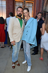 Evgeny Lebedev & Edie Campbell at the V&A Summer Party 2017 held at the Victoria & Albert Museum, London England. 21 June 2017.<br /> Photo by Dominic O'Neill/SilverHub 0203 174 1069 sales@silverhubmedia.com