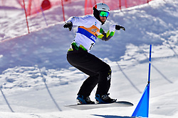 PATMORE Simon, SB-UL, AUS, Banked Slalom at the WPSB_2019 Para Snowboard World Cup, La Molina, Spain