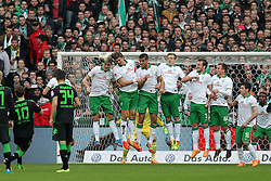 Football: Germany, 1. Bundesliga<br /> Max Kruse (Borussia Moenchengladbach), free kick vs SV Werder Bremen<br /> © pixathlon
