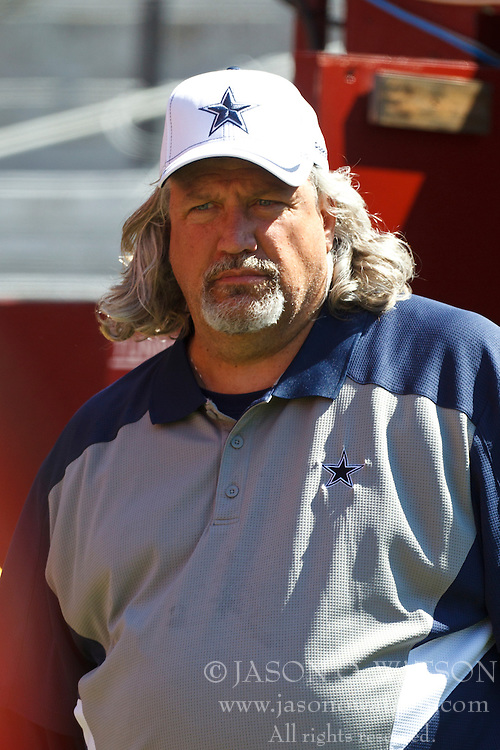September 18, 2011; San Francisco, CA, USA; Dallas Cowboys defensive coordinator Rob Ryan enters the field before the game against the San Francisco 49ers at Candlestick Park.  Dallas defeated San Francisco 27-24 in overtime.