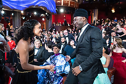 Tessa Thompson and Oscar®-winner Mahershala Ali talk during the live ABC Telecast of The 91st Oscars® at the Dolby® Theatre in Hollywood, CA on Sunday, February 24, 2019.