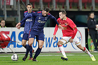 (L-R) Mitchell Dijks of Ajax U23, Mats Seuntjens of AZ Alkmaar U23