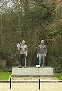18/03/2004 River and Rowing Museum. Statues of Matt Pinsent and Steve Redgrave over looking the car park. Redgrave right.[Mandatory Credit: Peter Spurrier: Intersport Images].