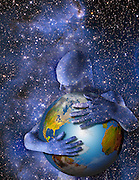 star man hugging earth