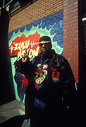 Afrika Bambaataa, Legendary Hip Hop DJ, U.S.A, 1980's.
