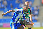 Gavin Massey during the Sky Bet League 1 match between Colchester United and Rochdale at the Weston Homes Community Stadium, Colchester, England on 8 May 2016. Photo by Daniel Youngs.