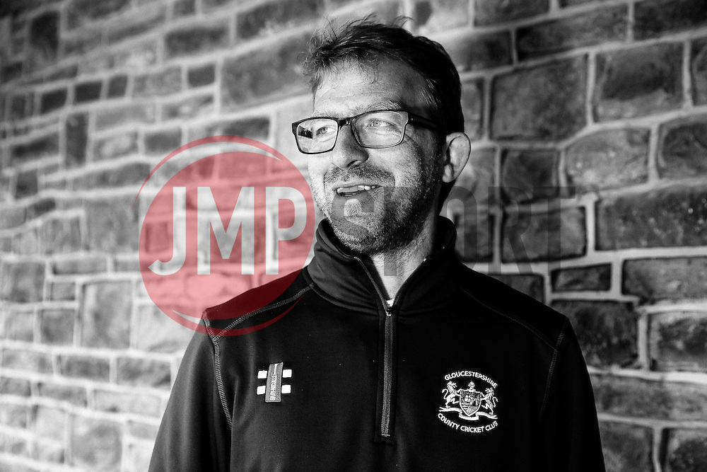 *CONVERTED TO BLACK AND WHITE* *New Gloucestershire head coach Richard Dawson poses for photographs at the preseason Media Day  - Photo mandatory by-line: Rogan Thomson/JMP - 07966 386802 - 10/04/2015 - SPORT - CRICKET - Bristol, England - Bristol County Ground - Gloucestershire County Cricket Club Photocall.
