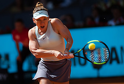 May 5, 2019 - Madrid, MADRID, SPAIN - Simona Halep of Romania in action during her first-round match at the 2019 Mutua Madrid Open WTA Premier Mandatory tennis tournament (Credit Image: © AFP7 via ZUMA Wire)