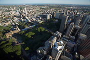 City Centre. Panoramic view from Sydney Tower.