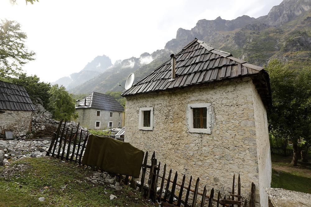 House in Valbona valley, Albania.