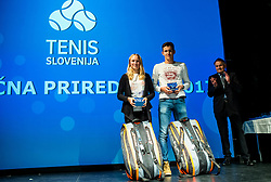 Zala awards during Slovenian Tennis personality of the year 2017 annual awards presented by Slovene Tennis Association Tenis Slovenija, on November 29, 2017 in Siti Teater, Ljubljana, Slovenia. Photo by Vid Ponikvar / Sportida