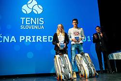 Zala awards during Slovenian Tennis personality of the year 2017 annual awards presented by Slovene Tennis Association Tenis Slovenija, on November 29, 2017 in Siti Teater, Ljubljana, Slovenia. Photo by Vid Ponikvar / Sportida