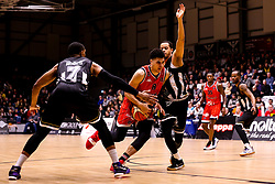Tevin Falzon of Bristol Flyers runs through a gap - Photo mandatory by-line: Robbie Stephenson/JMP - 01/03/2019 - BASKETBALL - Eagles Community Arena - Newcastle upon Tyne, England - Newcastle Eagles v Bristol Flyers - British Basketball League Championship