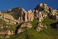 Entrance gate to the Beiyue Hengshan Mountain National Park, Datong, Hunyuan County, Shanxi Province, China