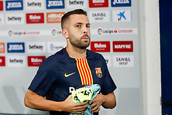 September 26, 2018 - Jordi Alba of FC Barcelona during the La Liga (Spanish Championship) football match between CD Leganes and FC Barcelona on September 26th, 2018 at Municipal Butarque stadium in Madrid, Spain. (Credit Image: © AFP7 via ZUMA Wire)