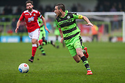 Forest Green Rovers Liam Noble(15) runs forward during the Vanarama National League match between Forest Green Rovers and Wrexham FC at the New Lawn, Forest Green, United Kingdom on 18 March 2017. Photo by Shane Healey.