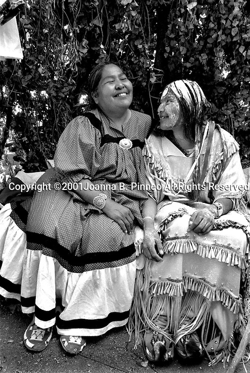 After the ceremony Tara and her mother, Kathy Kitcheyan, spend a few minutes together in Tara's wickiup talking about the weekend and  remembering  the people and the ceremony. From the collection of Grrlstories (www.grrlstories.org) a project that explores the ways girls come of age in America.