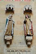Albrechtsburg, Dom, Stifterfiguren, Meißen, Sachsen, Deutschland. .Albrechtsburg, cathedral, figures of founders, Meissen, Saxony, Germany.