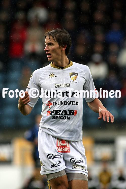 05.10.2008, Veritas stadion, Turku, Finland..Veikkausliiga 2008 - Finnish League 2008.FC Inter Turku - FC Honka.Joel Perovuo - Honka.©Juha Tamminen.....ARK:k