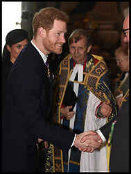 April 25, 2018 - London, London, United Kingdom - Anzac  Day. Prince William, The Duke of Cambridge joins Prince Harry and Meghan Markle at the ANZAC Day Service at Westminster Abbey , central London. (Credit Image: © i-Images via ZUMA Press)