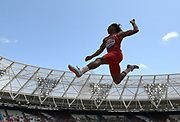 Jul 20, 2019; London, United Kingdom; Trumaine Jefferson (USA) places fifth in the long jump at 25-10 3/4 (7.89m)during the London Anniversary Games at London Stadium at  Queen Elizabeth Olympic Park.