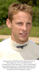 Racing driver JENSON BUTTON at a luncheon in West Sussex on 14th July 2002.PCB 161