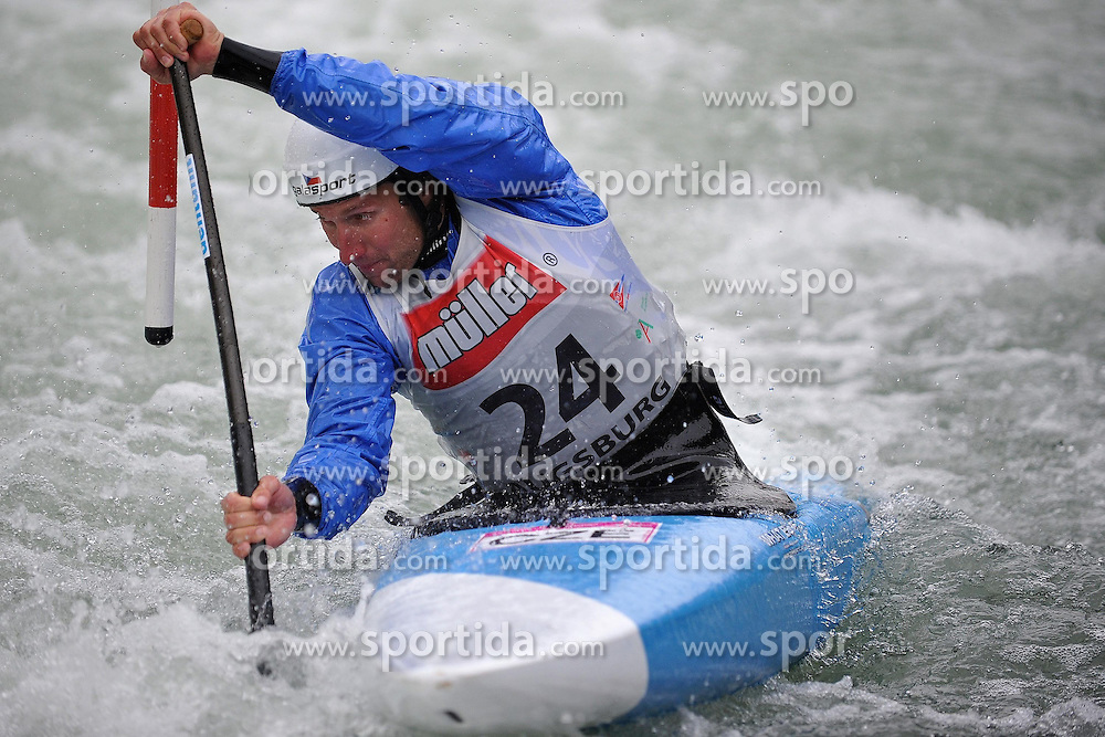 13.05.2012, Eiskanal, Augsburg, GER, ECA, Kanuslalom Europameisterschaft, im Bild Jan Masek, (CZE) // during the ECA European Canoe Championships at the Ice channel, Augsburg, Germany on 2012/05/13. EXPA Pictures © 2012, PhotoCredit: EXPA/ Eibner/ ATTENTION - OUT OF GER *****