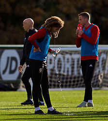 CARDIFF, WALES - Wednesday, November 14, 2018: Wales' Ethan Ampadu during a training session at the Vale Resort ahead of the UEFA Nations League Group Stage League B Group 4 match between Wales and Denmark. (Pic by David Rawcliffe/Propaganda)