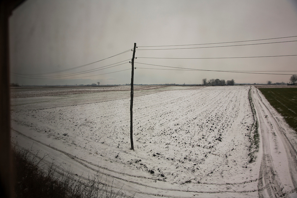 Along the Belgrade to Budapest rail line through Vojvodina.