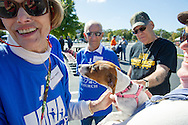 15 Oct. 2016 Forked River USA / Millie meets Luna the dog as St Pius X celebrates it's 10th year in their new church with a festival open to all  /  Michael Glenn  / Glenn Images